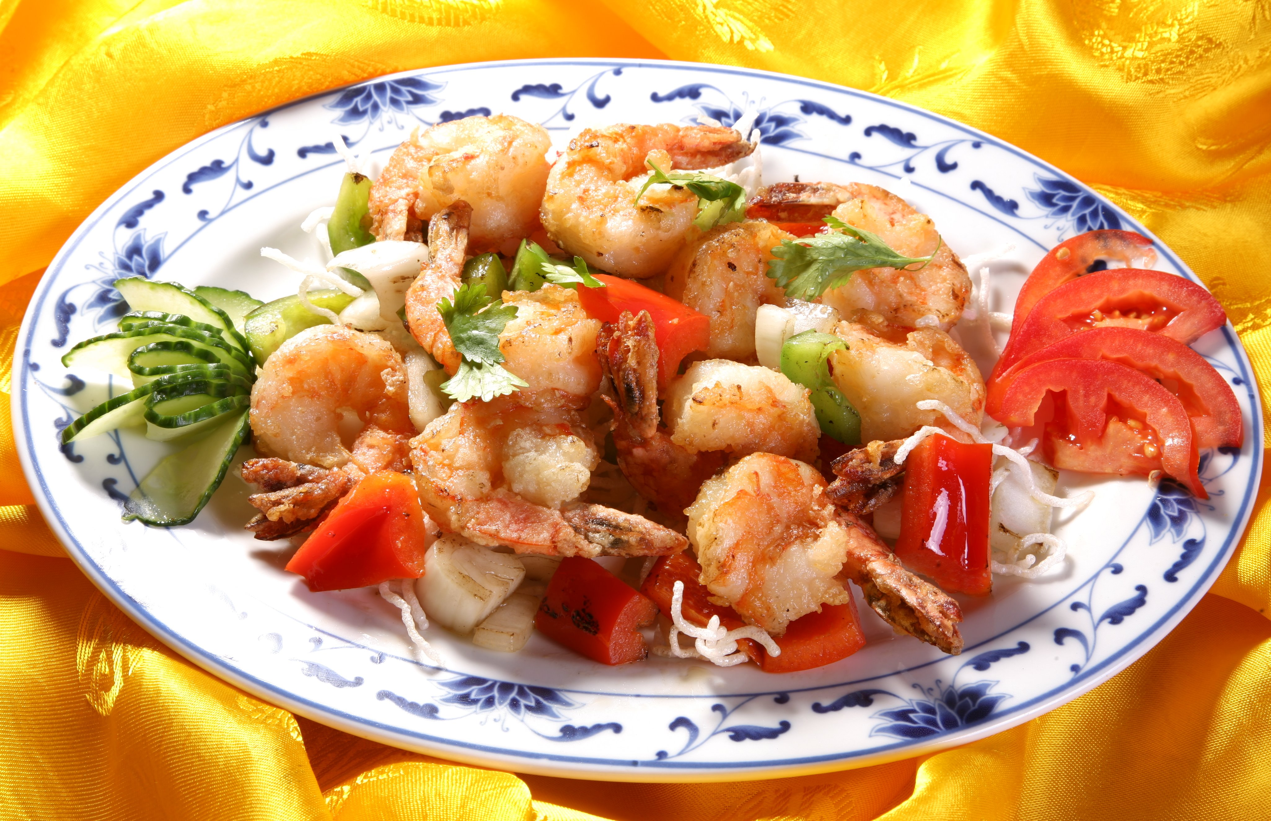 Shrimps with Sauce Salt and Pepper